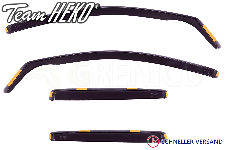 Windabweiser für Renault Megane 2 II 5 Türen 2002-2008 Schrägheck 4tlg Heko