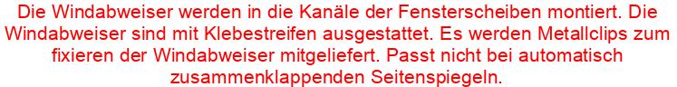 Windabweiser SUZUKI SX4 II S-CROSS 5-türer 2013-heute 2-tlg HEKO Regenabweiser