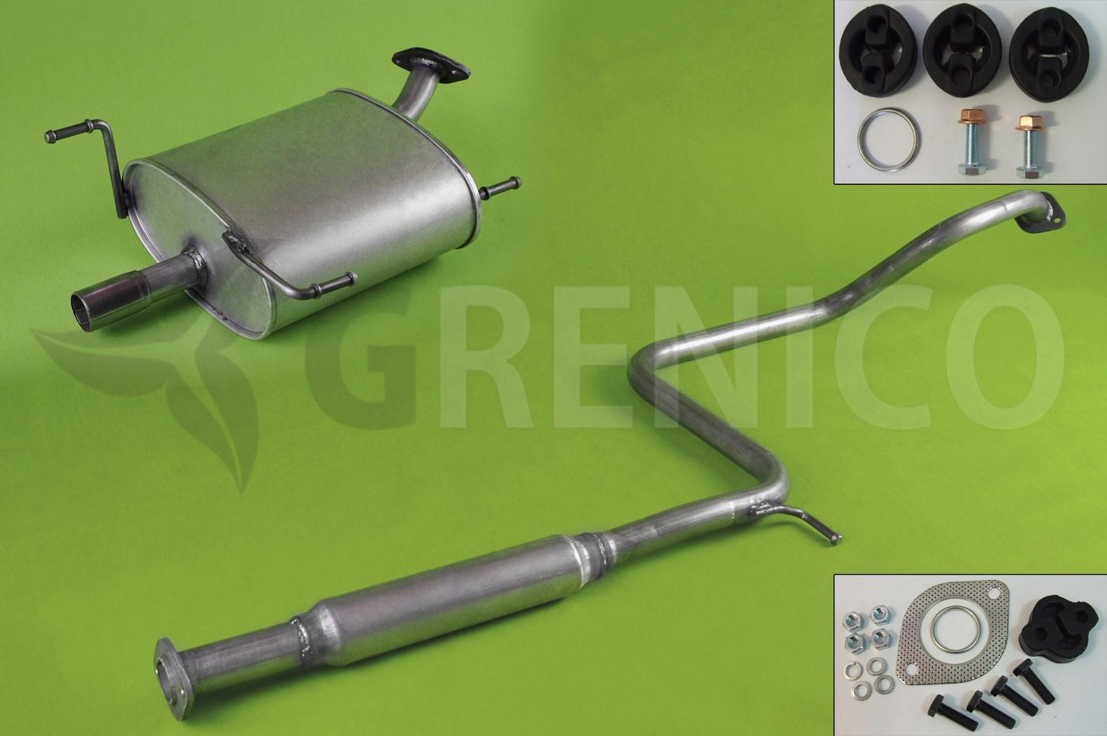 Mitteltopf Schalldämpfer Nissan Almera 1.4i//1.6i Schrägheck Stufenheck  Typ//N15