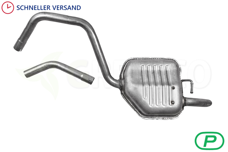 ANBAUSATZ Ford Mondeo Mittelschalldämpfer Auspuff 1.6//1.8 16 V  Kombi