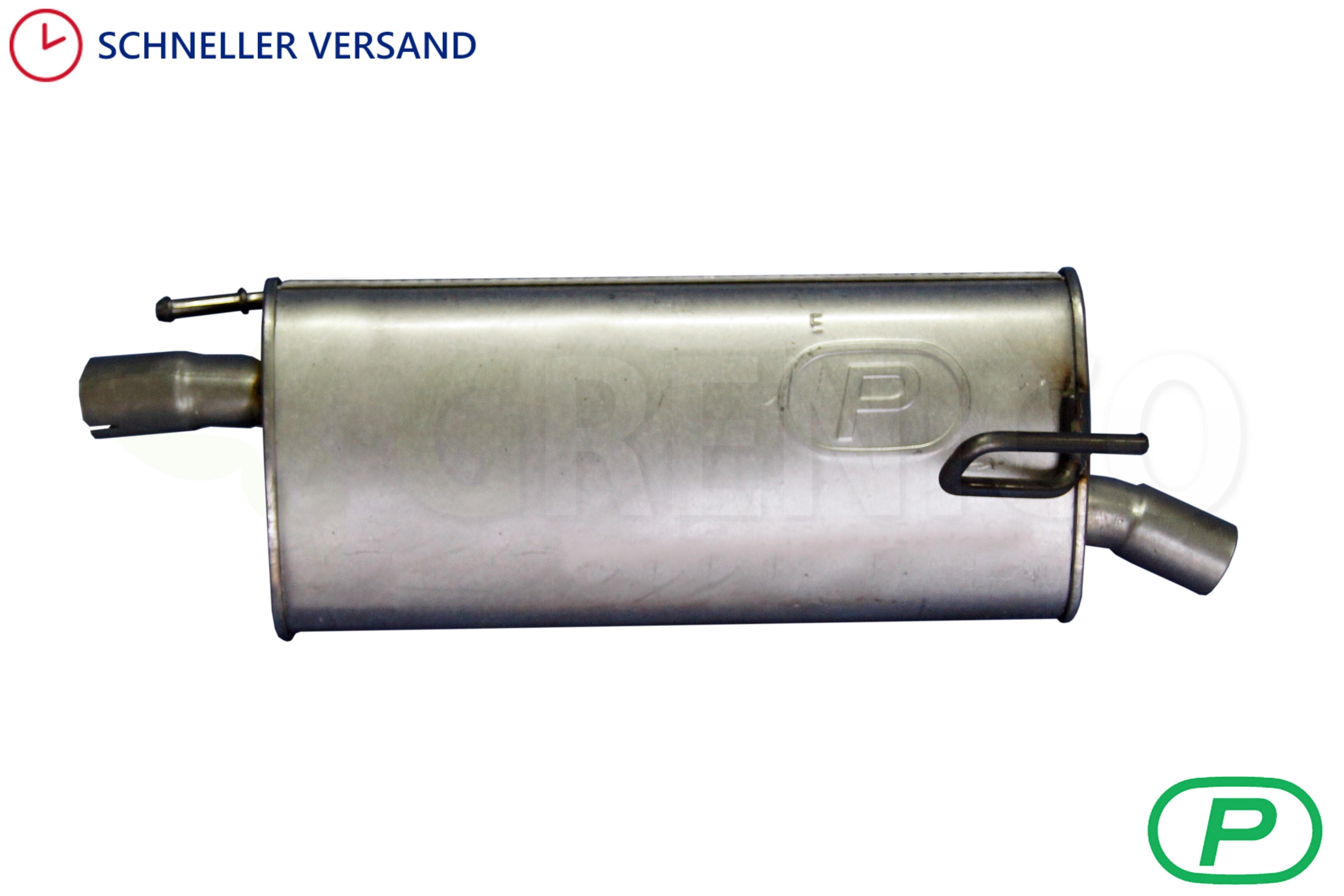 Endschalldämpfer Auspuff Mit Montagesatz 2003-2010 Opel Meriva A 1.6