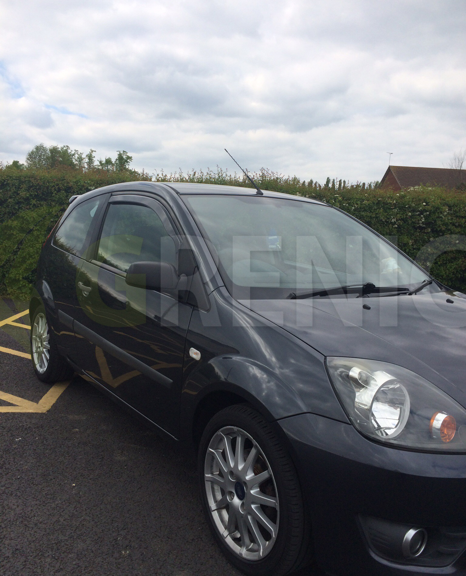 heko ford fiesta mk6 3 doors 2002 2008 2 pc wind deflectors tinted ebay. Black Bedroom Furniture Sets. Home Design Ideas