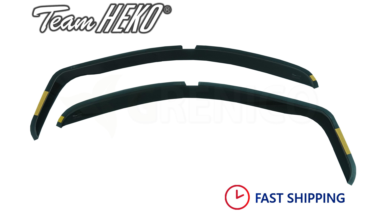 Heko 31128 Wind Rain Deflectors Set 3-Door 2 Pieces