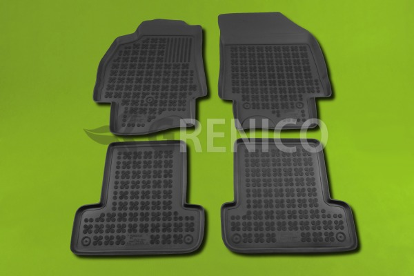 tapis de sol en caoutchouc renault megane iii 4 pi ces 2008 pr sent ebay. Black Bedroom Furniture Sets. Home Design Ideas